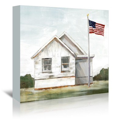 Americanflat American Flag by PI Creative Art Wrapped Canvas
