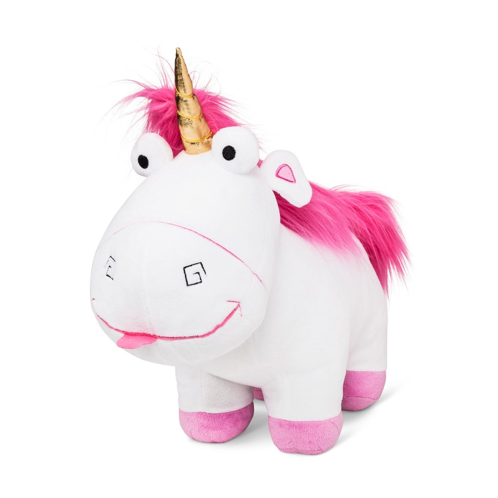 "Image of ""Despicable Me Fluffy Unicorn 16""""x17"""" Throw Pillow White & Pink"""