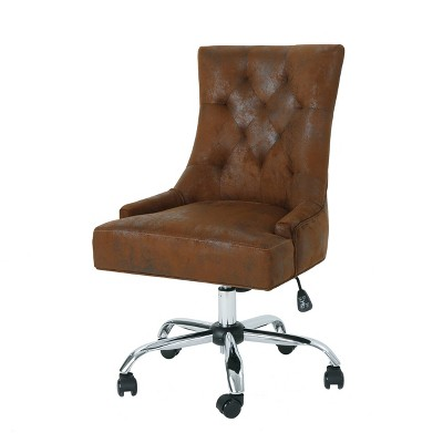 Americo Home Office Desk Chair Brown - Christopher Knight Home