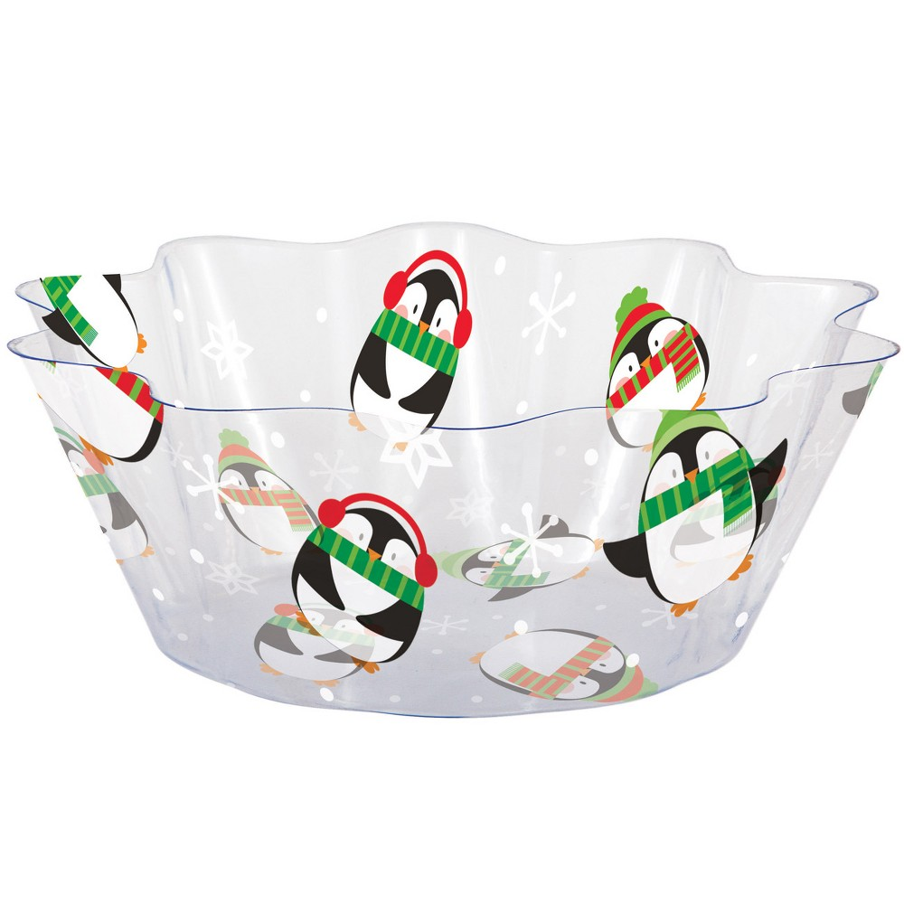 Penguin Fluted Bowl, Multi-Colored