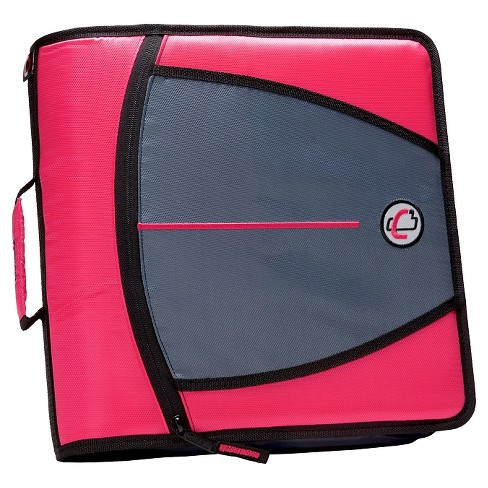 "Case•it 3"" 3 Ring Binder with Zipper Cover Pink - image 1 of 3"