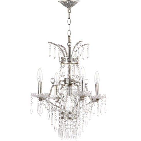 "Michelle 5 Light Beaded ""17.75"" Dia Adjustable Chandelier Rusted - Safavieh® - image 1 of 2"