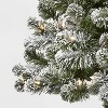 6ft Pre-lit Artificial Christmas Tree Flocked Alberta Spruce Clear Lights - Wondershop™ - image 3 of 4