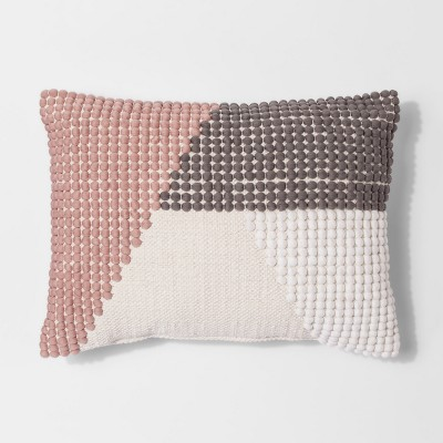 Pink Texture Color Block Lumbar Throw Pillow - Project 62™