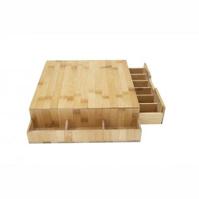 Mind Reader Bamboo Drawer Organizer, Brown