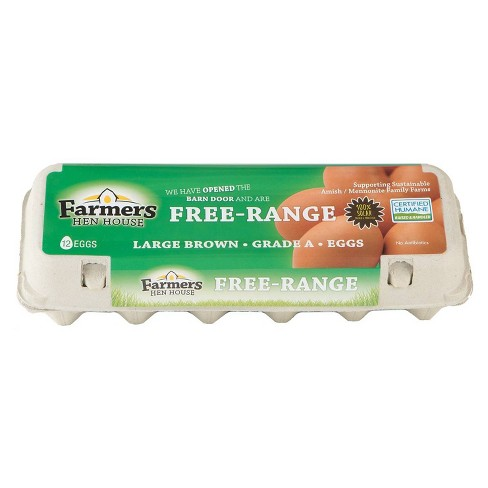 Farmers Hen House Free-Range Large Brown Eggs - 12ct - image 1 of 3