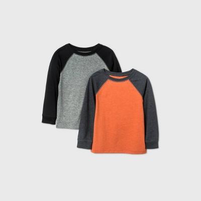 Toddler Boys' 2pk Raglan T-Shirt - Cat & Jack™ Orange