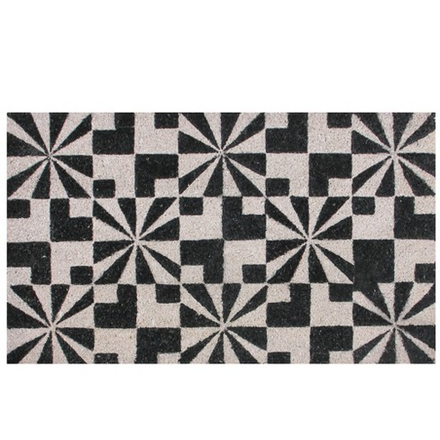 Northlight Black and Gray Abstract Design Outdoor Doormat 29 x 17 - image 1 of 2