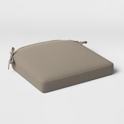 Outdoor Rounded Seat Cushion DuraSeason Fabric™ Taupe - Threshold™