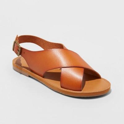 dbf67188bd5f Women s Sarina Crossband Slide Sandals – Universal Thread™ Cognac 8 ...