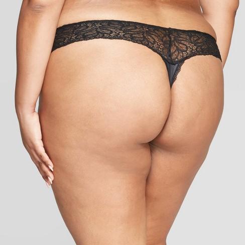 c3b32e8feb4 Women s Plus Size Micro Thong With Lace Waistband - Auden™ Black 1X   Target