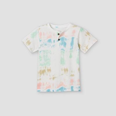Toddler Boys' Tie-Dye Henley Shirt - art class™ 4T