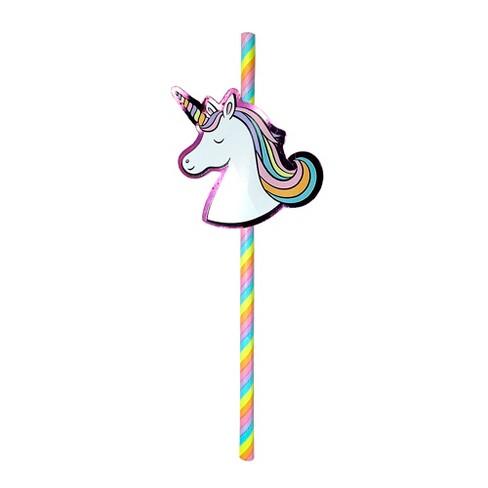 unicorn paper straws spritz target