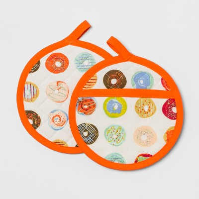 Donut Pot Holder Set Orange - Opalhouse™