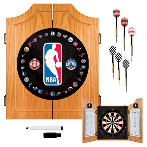 NBA Wood Dart Cabinet Set - image 1 of 1