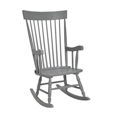 Gift Mark Modern Wooden Rocking Chair - Gray