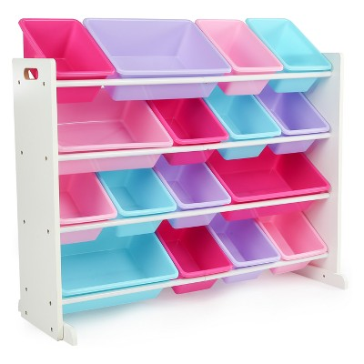 Tot Tutors Forever Super-Size Toy Organizer White/Pink