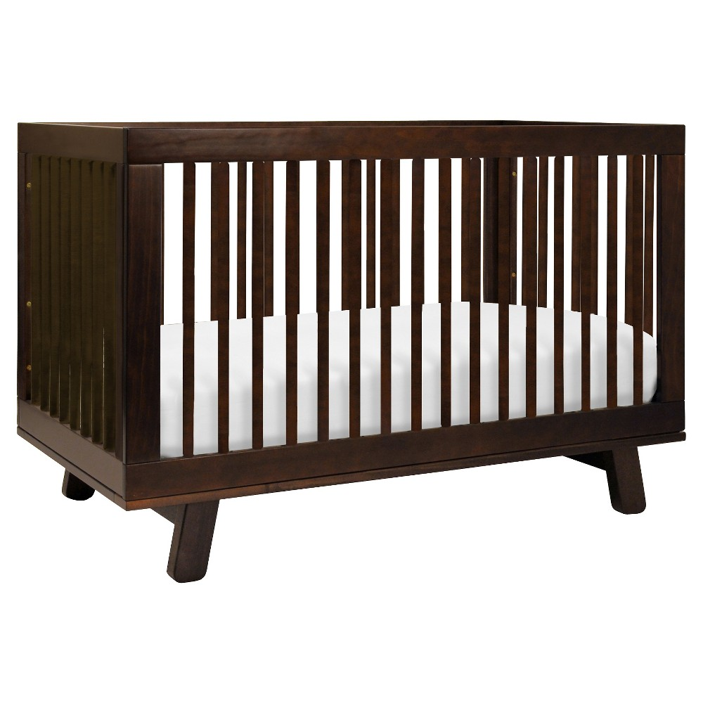 Image of Babyletto Hudson 3-in-1 Convertible Crib with Toddler Rail, Brown