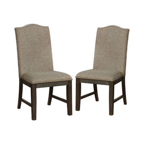Set Of 2 Lemieux Upholstered Dining Chairs Brown Iohomes Target