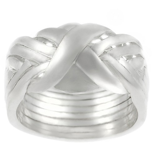 Women's Journee Collection Eight-piece Puzzle Ring in Sterling Silver - image 1 of 3
