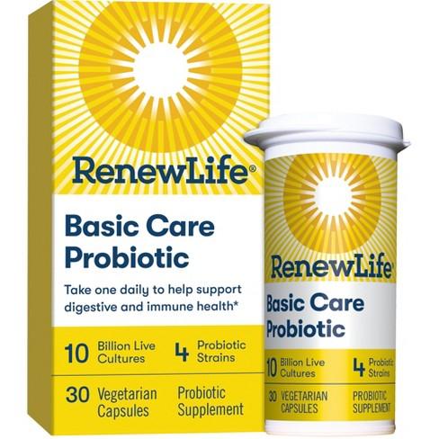 Renew Life - Basic Care Probiotic - 10 billion - 30 vegetable capsules - image 1 of 6