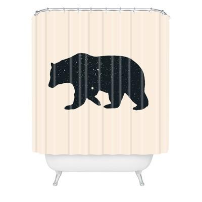 Florent Bodart Ours Shower Curtain White - Deny Designs