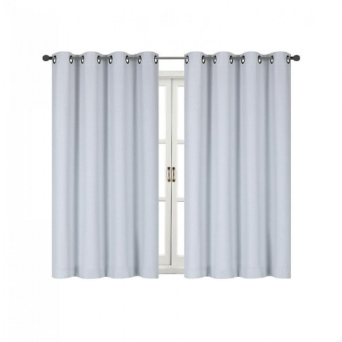 Kate Aurora 100% Hotel Thermal Blackout White Grommet Top Curtain Panels - image 1 of 1