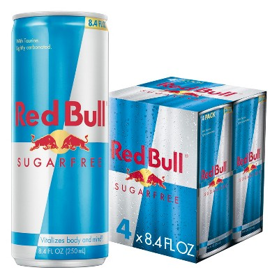 Red Bull Sugar Free Energy Drink - 4pk/8.4 fl oz Cans