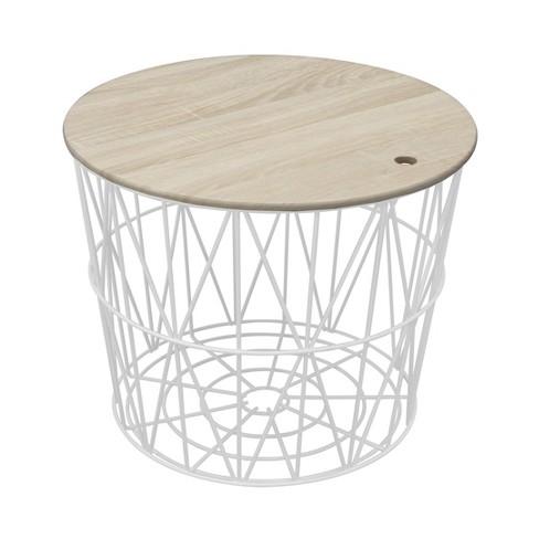 Wire Storage Table White Room Essentials