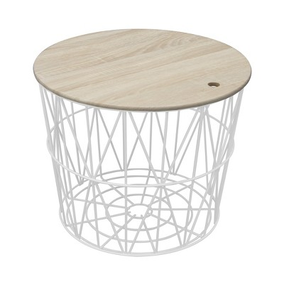 Delicieux Wire Storage Table White   Room Essentials™