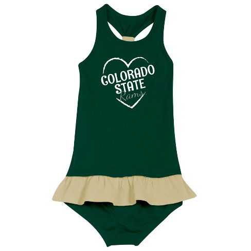 Colorado State Rams After Her Heart Newborn/Infant Dress - image 1 of 2