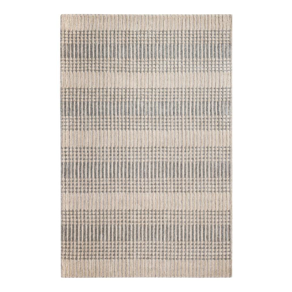 Brown Stripe Woven Area Rug 5'X8' - Anji Mountain