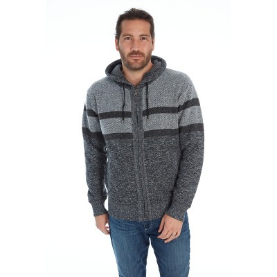 Distortion Men's Zip Up Hooded Sweater