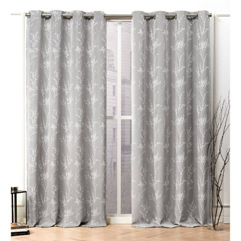 Turion Grommet Top Curtain Panel Pair - Nicole Miller - image 1 of 4