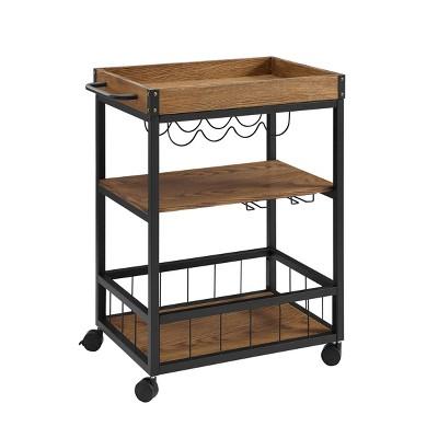 Austin Kitchen Cart Metal/Wood - Linon