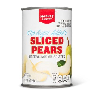 No Sugar Added Sliced Pears - 14.5oz - Market Pantry™