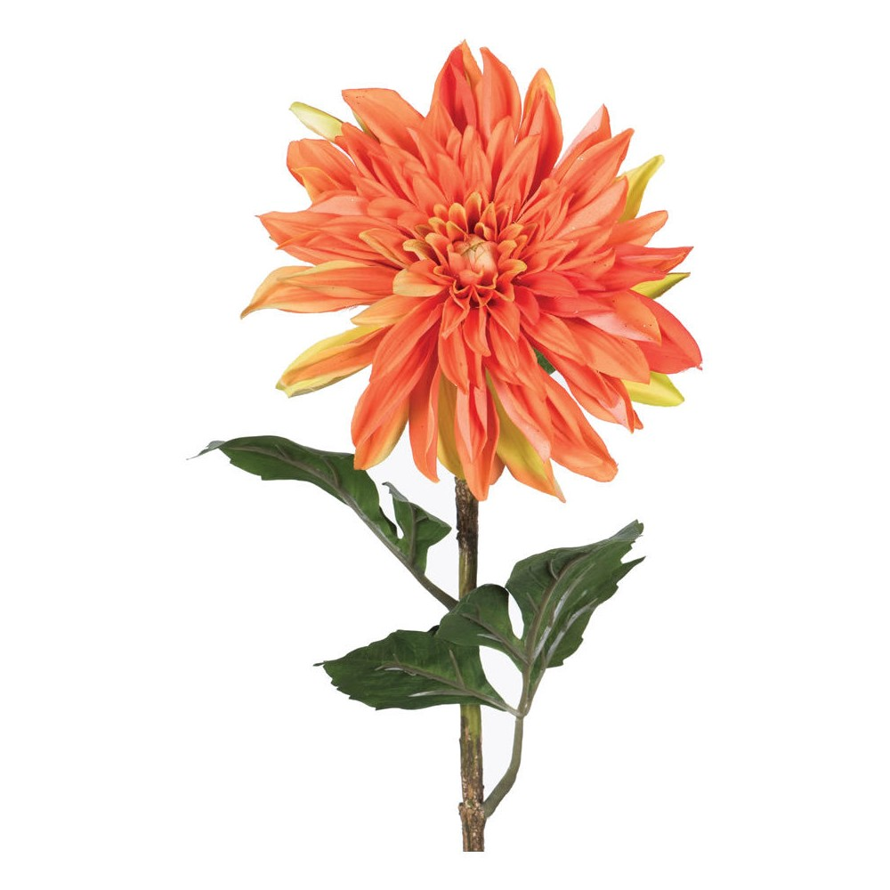 Artificial Dahlia Plant (28) Orange - Vickerman