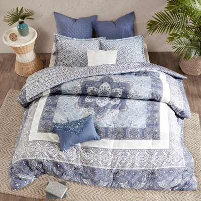 Emily Reversible Cotton Comforter Set 7pc