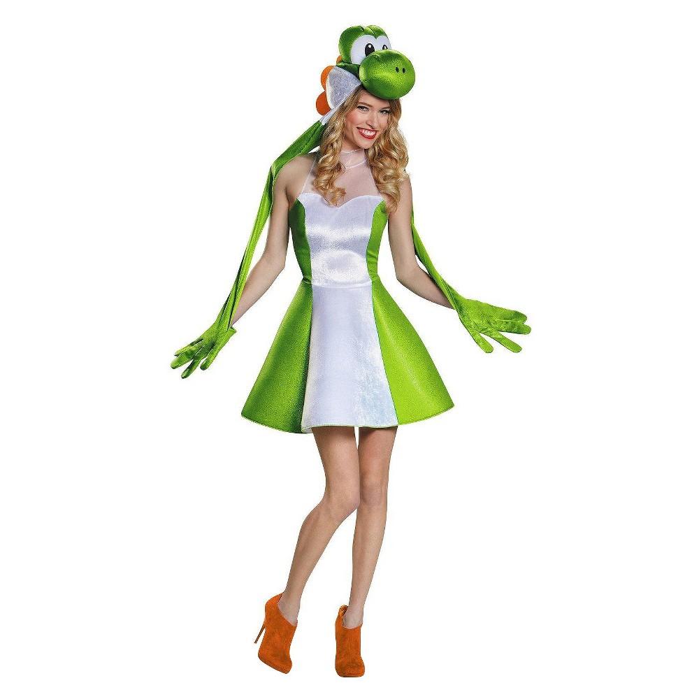 Image of Halloween Women's Super Mario Bros: Yoshi Female Costume - Small, Green