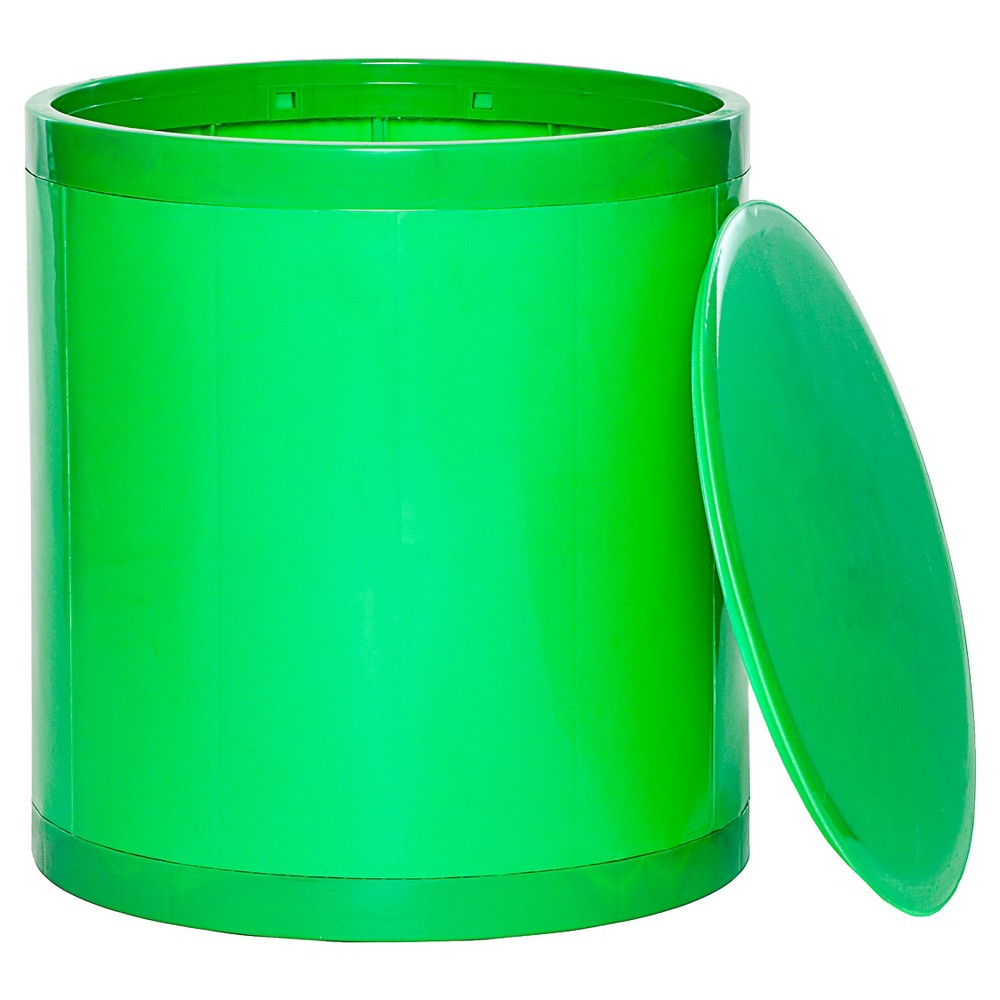 Image of GitaDini Storage Ottoman - Green