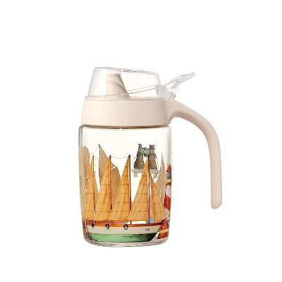 Juvale Glass Oil and Vinegar Container Dispenser Bottle Cruet 8.5 oz 250mL with Protective Cap