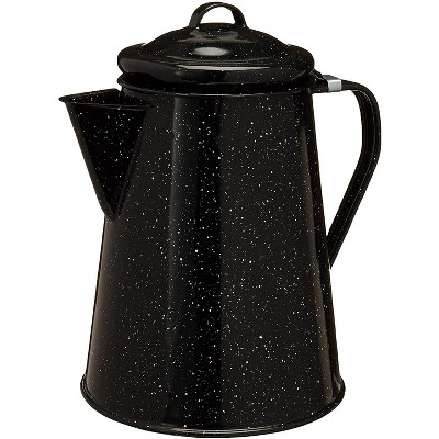 Granite Ware Cookware - Since 1871 - Classic Camping Coffee Pot - Large Coffee Percolator For Home and Camp Kitchens - Campfire or Stovetop - 12 Cups
