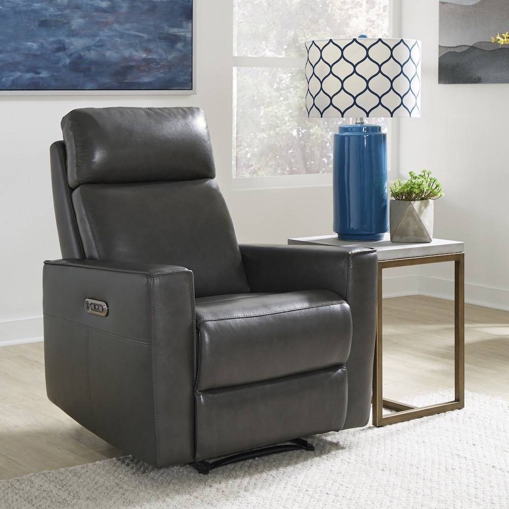 Phenomenal Nuovo Leather Power Motion Recliner Gray Home Styles Ibusinesslaw Wood Chair Design Ideas Ibusinesslaworg