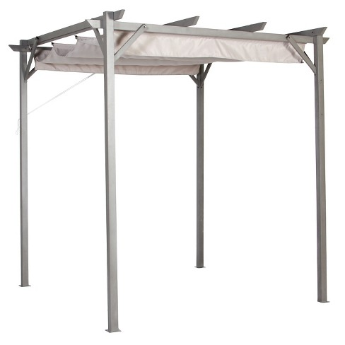 - Pacific Casual 8' X 8' Steel Pergola With Retractable Top : Target