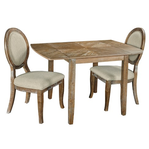 3pc Canby Dining Set Brown - Powell Company