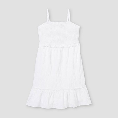 Girls' Smocked Bodice Cami Dress - art class™ White