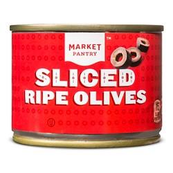 Sliced Ripe Black Olives - 2.25oz - Market Pantry™