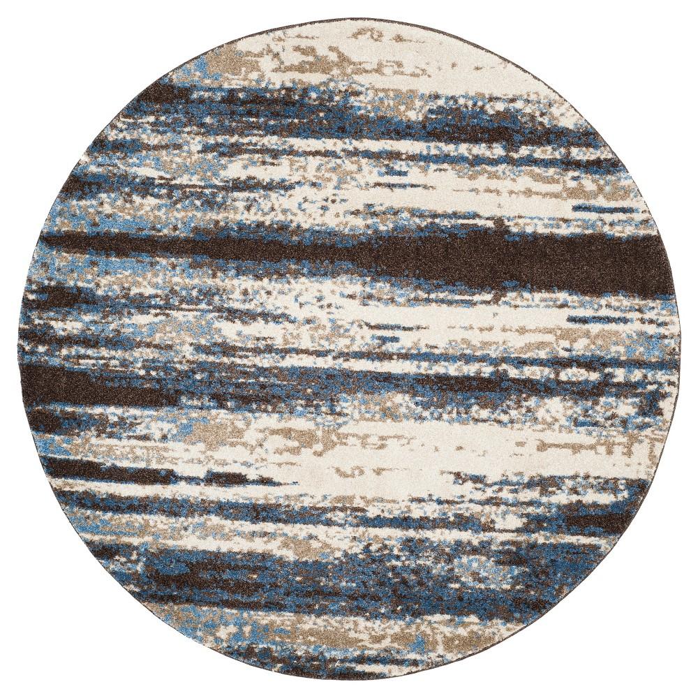 Rolland Area Rug - Cream / Blue (6' Round) - Safavieh, Beige