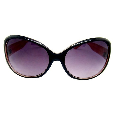 Women's Large Frame Sunglasses - Black - image 1 of 3