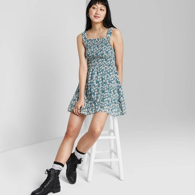 Women's Smocked Top Tiered Dress - Wild Fable™